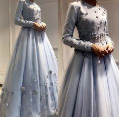 New dress brokat tile Ideas Muslim Wedding Dresses, Bridesmaid Dresses, Prom Dresses, Wedding Hijab, Dress Wedding, Wedding Bride, Hijab Fashion, Fashion Dresses, Muslim Fashion