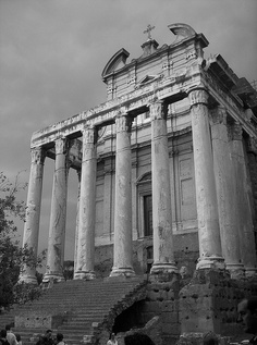 Photo of the Temple of Antoninus and Faustina that I took on our family trip to Rome