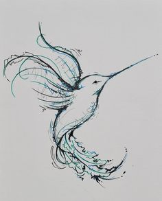 possible hummingbird tattoo design - cute-tattoo.com