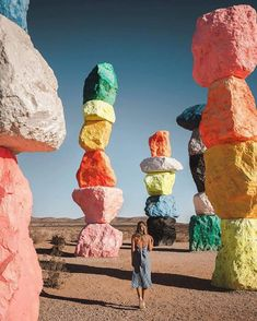 seven magic mountains, las vegas, nevada Places To Travel, Places To See, Travel Destinations, Wanderlust Travel, Nevada, Image Tumblr, Seven Magic Mountains, United States Travel, Travel Goals
