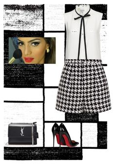 """""""Inspired by Camila Coelho"""" by huldinhared on Polyvore featuring beleza, Alpine, Christian Louboutin, Frame Denim, Emma Cook, Yves Saint Laurent e Neutra"""