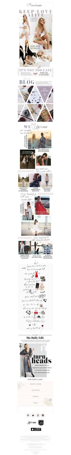Free People Email Design