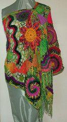 sideshow alley v2 (renatekirkpatrick) Tags: spirals crochet wrap australia shawl garment bullions freeformfreestyle rensfibreart tafagroup renatekirkpatrick