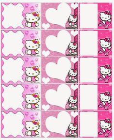 O Tapete Vermelho da Imagem: Images' Red Carpet: Etiquetas escolares da Hello Kitty / Hello Kitty s. Hello Kitty Pictures, Hello Kitty Cake, Freebies, Kawaii Stationery, Tent Cards, Cat Party, Printable Labels, Sanrio, Planner Stickers