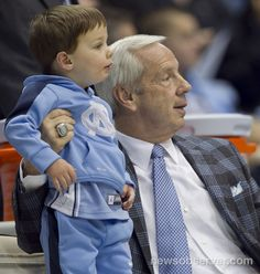 Roy Williams and his grandson at a game!