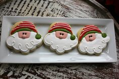 santas using a cupcake cookie cutter