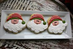 santas using a cupcake cookie cutter