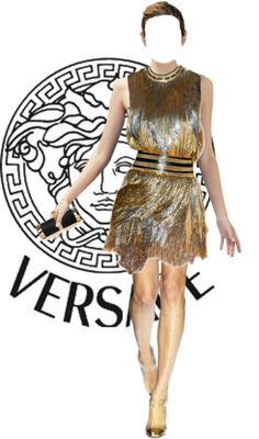 """Versace"" by land ❤ liked on Polyvore"