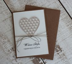 rustykalna kartka ślubna papieroffka