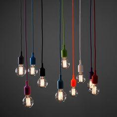Retro Style Silicone Suspended Lampholder Pendant Collection - Globe Bulb - Lifestyle Image