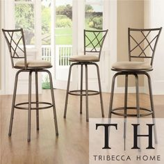 Tribecca Home Avalon Quarter Cross Swivel Counter Barstool Tribecca Home http://www.amazon.com/dp/B00I399FO2/ref=cm_sw_r_pi_dp_yrQoub1RXT6RM