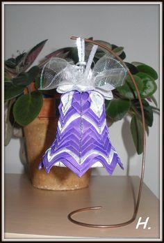 zvonek fialovo-stříbrný