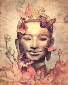Lachende Boeddha vintage versie van claudiatremblay op Etsy