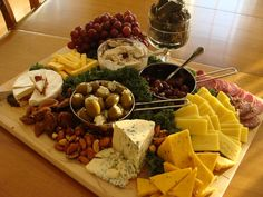 My Meat and cheese tray Party Platters, Food Platters, Meat And Cheese, Cheese Platters, Cheese Tray Display, Appetizers For Party, Appetizer Recipes, Thanksgiving Appetizers, Wine And Cheese Party