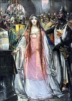 Eric Pape — The Geste of Duke Jocelyn — 1920 Stair Art, Blood And Bone, Pre Raphaelite, Beautiful Fairies, Medieval Art, Archetypes, Artist Art, Art Music, Illustrators
