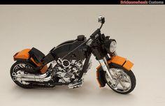 Harley Davidson Fatboy (1:10) in Lego