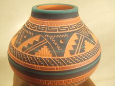 pottery | Native American Indian pottery - Navajo etched pottery