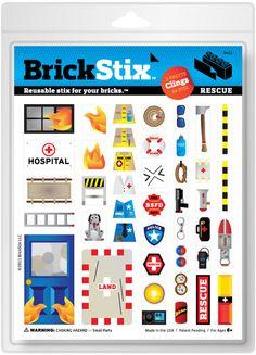 Reusable Lego Brick Stickers!!!