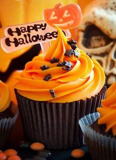 cupcakes Halloween calabaza Cupcakes de Halloween