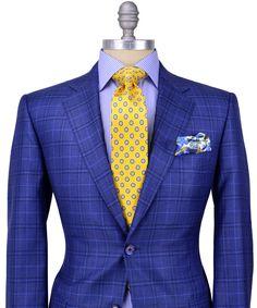 Maybe a bit foppish but I like it. Sharp Dressed Man, Dressed To Kill, Well Dressed Men, Blazer Fashion, Suit Fashion, Mens Fashion, Street Fashion, Costume Africain, Stanley Korshak