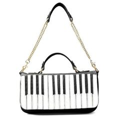 Fashion Piano Keys Satchel Handbag Womens Shoulder Bag