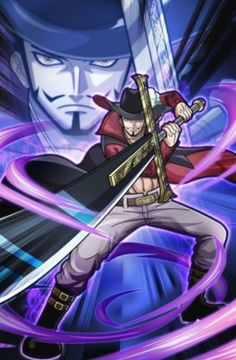 One Piece - Gol D. Roger was known as the Pirate King, the strongest and most infamous being to have sailed the Grand Line. Hawkeye One Piece, Zoro One Piece, One Piece Ace, Anime Echii, Manga Anime One Piece, Art Anime, Roronoa Zoro, One Piece Seasons, One Piece Wallpaper Iphone