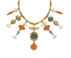 In 2009, Christie's Auction NY sold a Victorian Egyptian Revival necklace that was featured in 'The Devil Wears Prada' with Meryl Streep. The necklace was made in 1870 by an English firm called Hancocks & Co and is set with carved moonstone, coral beads, cabochon turquoise and gold. It's a prime example of the level of detail that craftsman of the time would put into their work and proves that a jewel does not have to include diamonds to be valuable, this necklace sold for just under…