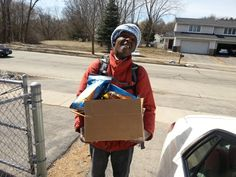 Friday Feel Good Moment - A client of our Supportive Living Program volunteers to deliver food to others in the community. Together we can ALL make a positive impact in each others lives!
