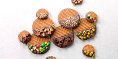 stroopwafel chocolade en m&m's