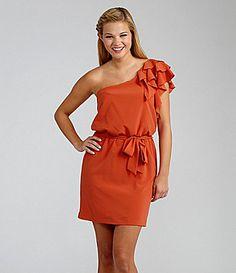 B Darlin OneShoulder Ruffle Dress #Dillards