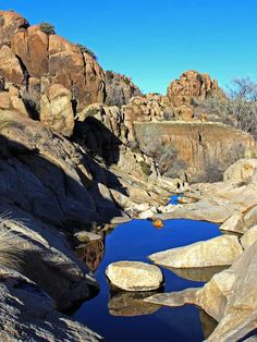 Reflective pools on Willow Lake Loop Trail, Prescott, Arizona