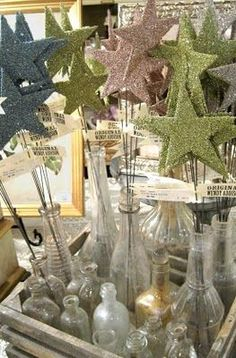 glitter star wands!! Add this to my inventory at craft shows to draw in people. offer at a low price as a grabber.