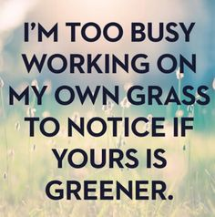 Working on my own grass