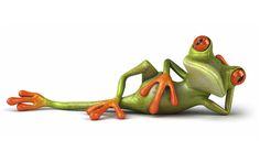 3D Cartoons Frog wallpaperia.com