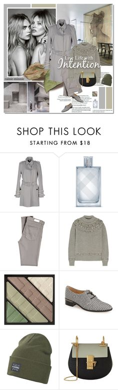 """Kate and Cara"" by rainie-minnie ❤ liked on Polyvore featuring Burberry, David Chipperfield, AG Adriano Goldschmied, Gucci, Ivanka Trump, Dakine, Chloé and modern"