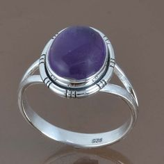 NEW DESIGNER 925 STERLING SILVER AMETHYST AMAZING RING 4.13g DJR9060 SZ-9 #Handmade #Ring