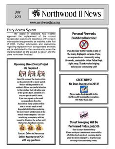 hoa newsletter examples