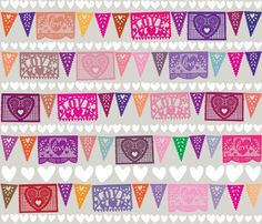 Love Fiesta fabric by sammyk for sale on Spoonflower - custom fabric, wallpaper and wall decals