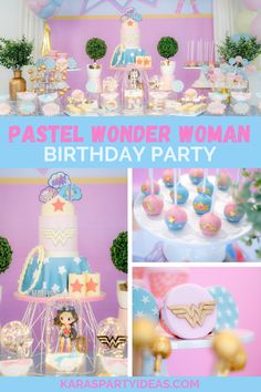 Wonder Woman Birthday Cake, Wonder Woman Cake, Wonder Woman Party, Birthday Woman, 1st Boy Birthday, Birthday Ideas, Fun Party Themes, Party Ideas, Girl Superhero Party
