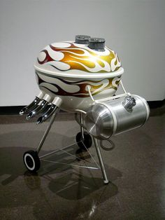 This Hot Rod Grill's got some sweet flames!