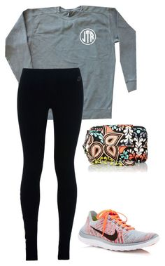 Going Christmas shopping again, YAY! by southernstruttin ❤ liked on Polyvore featuring NIKE and Vera Bradley