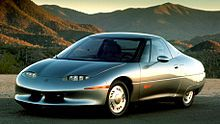 General Motors Ev1 Wikipedia The Free Encyclopedia Electric Cars Vehicle Garage