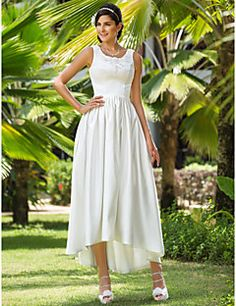 Lanting+A-line/Princess+Plus+Sizes+Wedding+Dress+-+Ivory+Asy...+–+USD+$+79.99