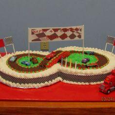 Cars 2 birthday racetrack cake!