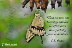 When we lose one #blessing, another Is often most unexpectedly given in its place #CSLewis