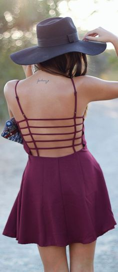 Strappy Open Back Dress