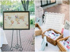 love this idea! guests pin where they think the couple should celebrate their 10th anniversary.