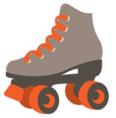 Roller skate cut out.