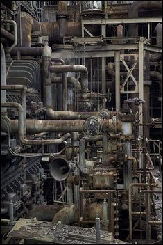 """""""Power Plant"""" by hoodwatch Level Design, Bg Design, Abandoned Buildings, Abandoned Places, Computer Kunst, Abandoned Factory, Industrial Machinery, Industrial Architecture, Old Factory"""