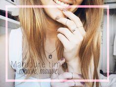 Manicure time – mauve mauve.